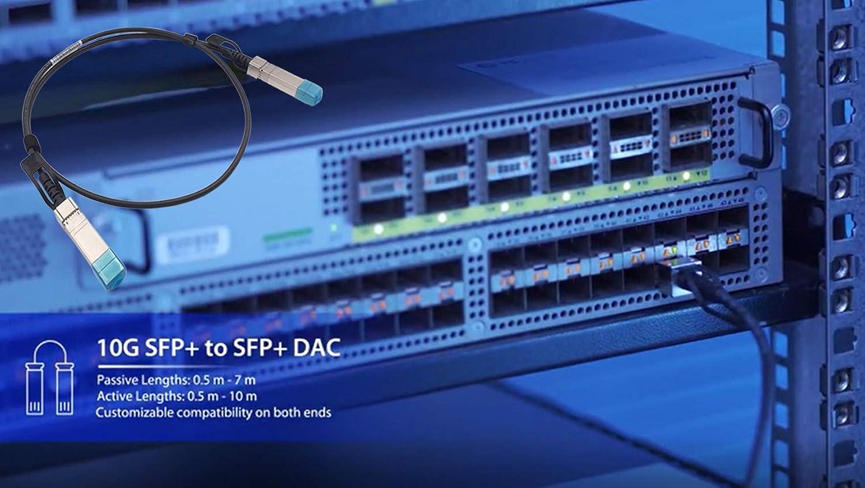 3 Meters SFP+ DAC Cable 10Gb SFP+ Storage Network Cable D-Link Mikrotik Netgear Compatible for Cisco SFP-H10GB-CU3M Juniper Ethernet Copper Switch Cable Ubiquiti Supermicro Mellanox Huawei