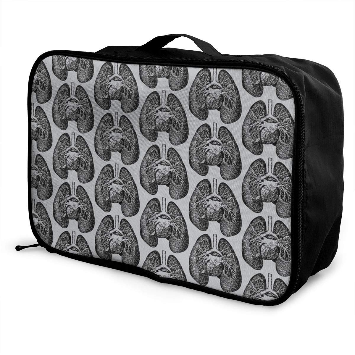 Portable Luggage Duffel Bag Christmas Penguin Travel Bags Carry-on In Trolley Handle
