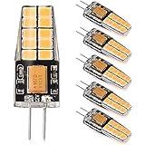 LEDGLE [Lot de 6] 3W Ampoules G4 20-LED SMD2835 300 Lumens Équivalente à une Ampoule Incandescente 35W Angle du faisceau 360° 2800K -Blanc Chaud