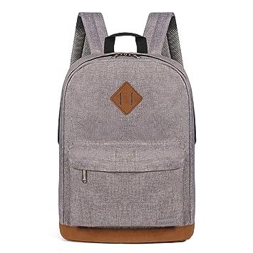 Advocator Mochila para Estudiantes, para Ordenador portátil, Escuela, Color sólido, Casual, Mochilas, Gris Claro (Gris) - Advocator Packable Backpack: ...