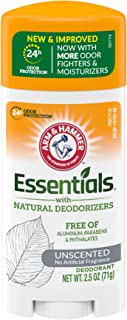 product image for ARM & HAMMER Essentials Deodorant- Unscented- Solid Oval- 2.5oz- Made with Natural Deodorizers- Free From Aluminum, Parabens & Phthalates