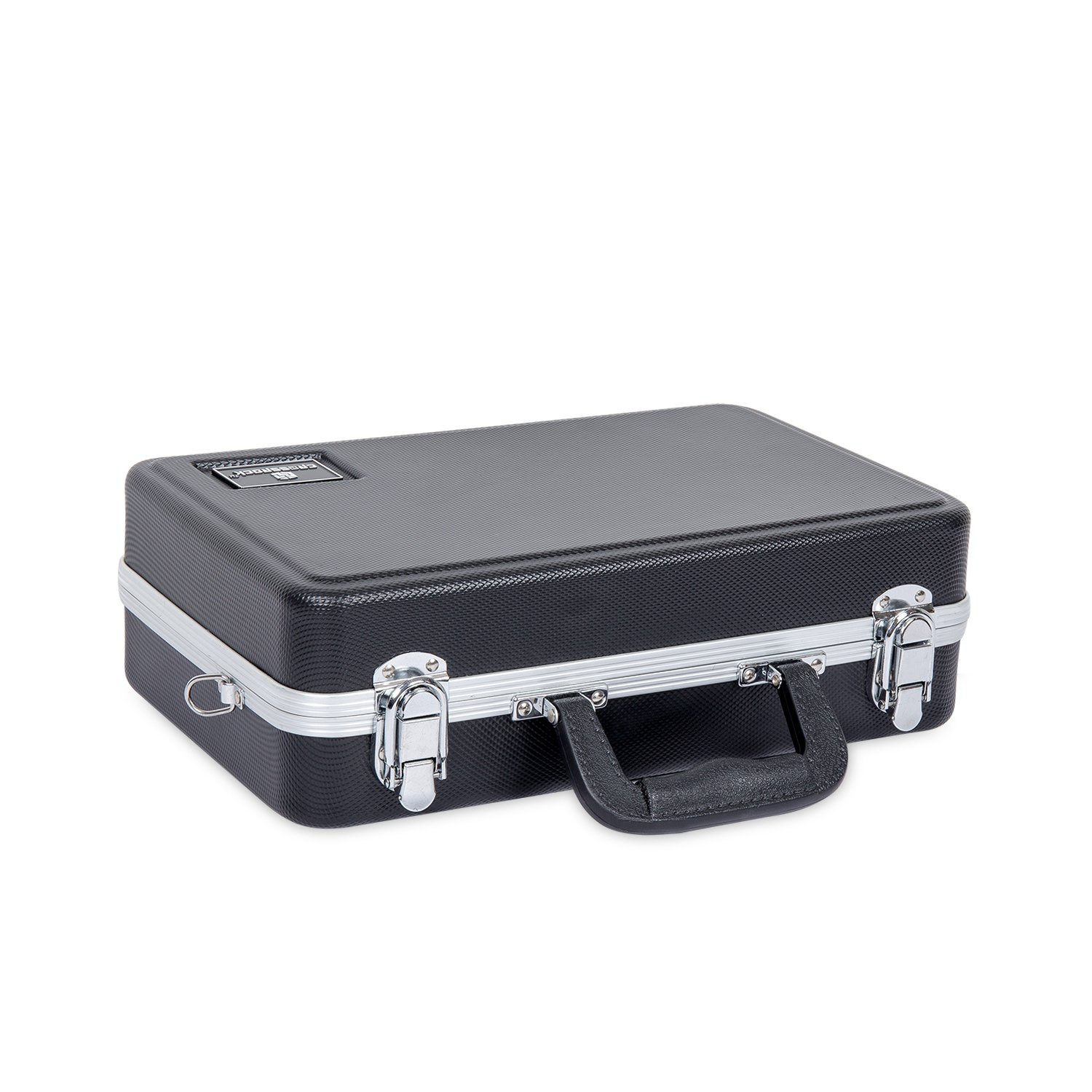 Crossrock CRA860CLBK Clarinet ABS Molded Hard Shell Case with Single Shoulder Strap in Black