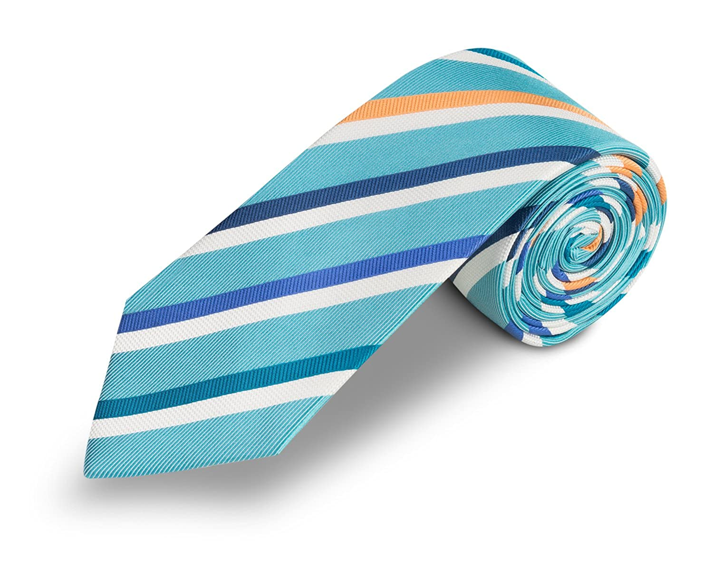 corbatas de hombre verde turquesa - Corbata seda natural ...