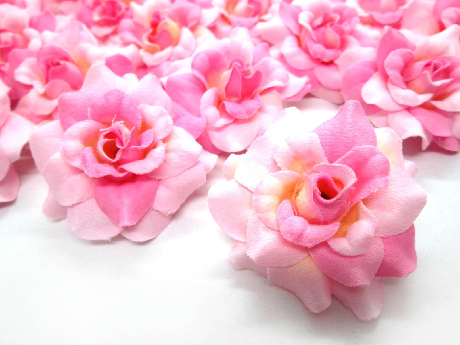 24-Silk-Two-tone-Light-Pink-Roses-Flower-Head-175-Artificial-Flowers-Heads-Fabric-Floral-Supplies-Wholesale-Lot-for-Wedding-Flowers-Accessories-Make-Bridal-Hair-Clips-Headbands-Dress