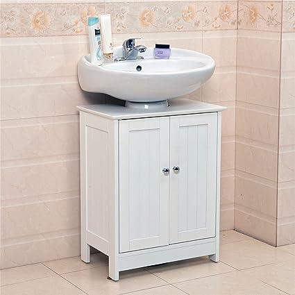 huge discount 27483 42e2e Under sink Bathroom Cabinet - White Wood Undersink Bathroom ...