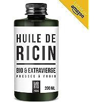 HUILE DE RICIN BIO 100% Pure et Naturelle. Pressée à Froid, Extra Vierge, Accélère la Pousse des Cheveux, Cils et Ongles. Nourrit et Hydrate la Peau et les cheveux. (200ml)
