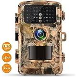 Campark Wild Appareil photo 12MP 1080P FHD Caméra de chasse 2.4couleur LCD Angle 120° Vision Low Glow infr Lanzarote 22m/75ft, 42pcs IR LED étanche IP56