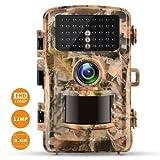 """Campark Fotocamera da Caccia 12MP 1080P FHD Trail Game Camera con sensore di movimento,2.4 """"LCD 120°Ampia Visuale Invisibili Infrarossi 42pcs IR LEDs Visione Notturna 79FT/22M Impermeabile IP56"""