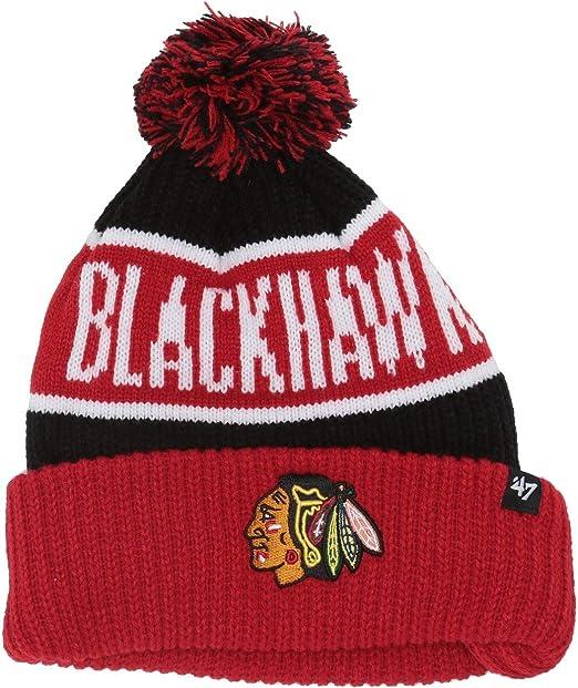 NHL Chicago Blackhawks Calgary 47 Brand Cuff Knit Mens