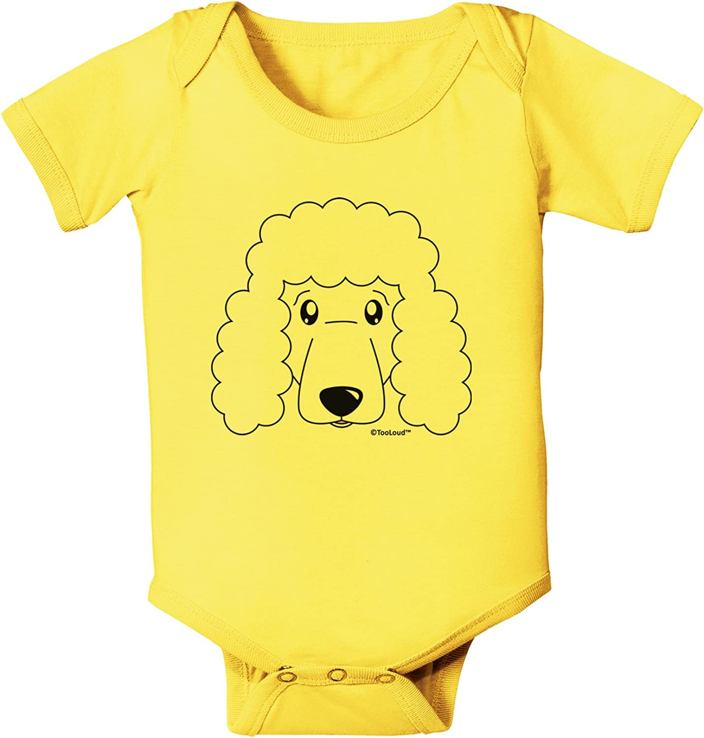 White Baby Romper Bodysuit TooLoud Cute Poodle Dog