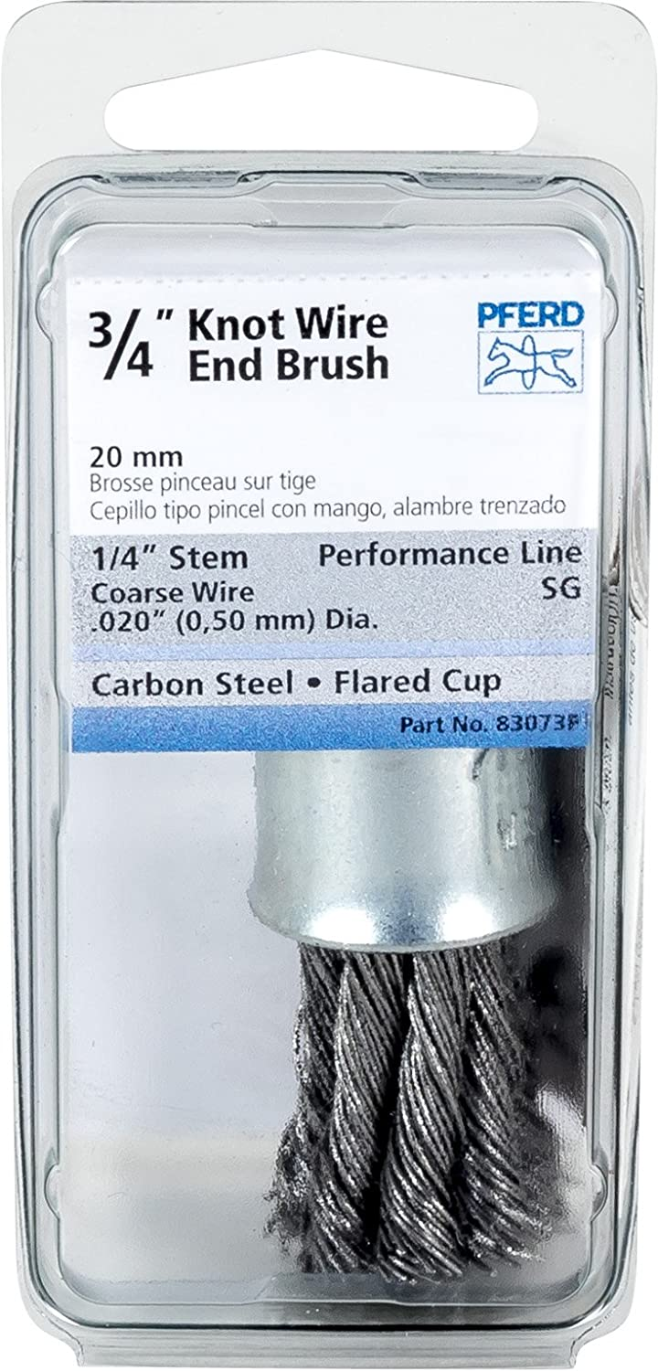 Pferd 83073P Stem Mounted Knot End Brush, Carbon Steel Wire, 3/4 ...