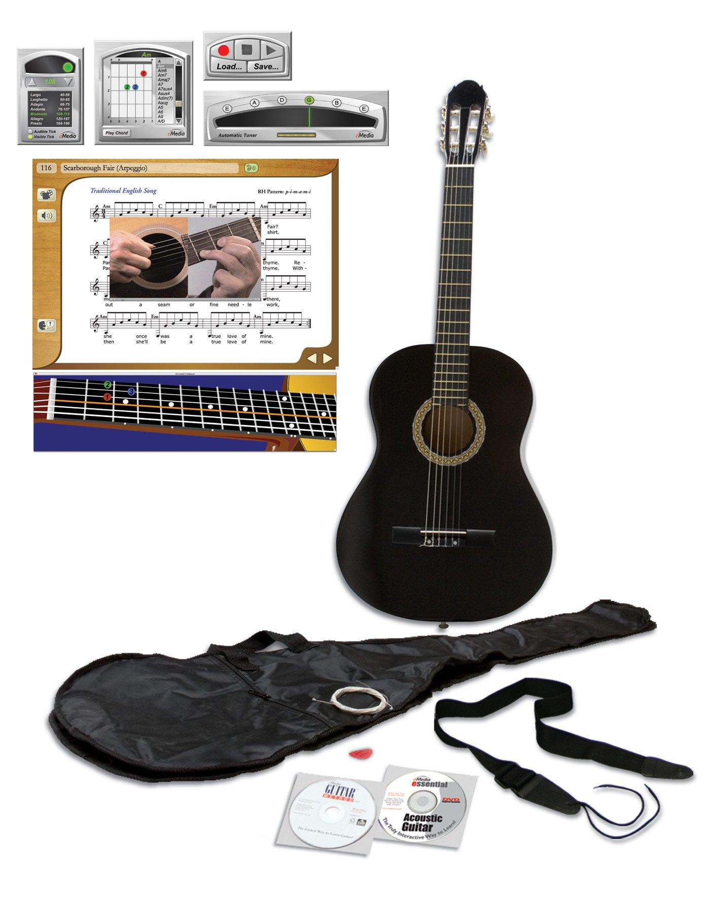 eMedia Essential Guitar Pack, full-size, black