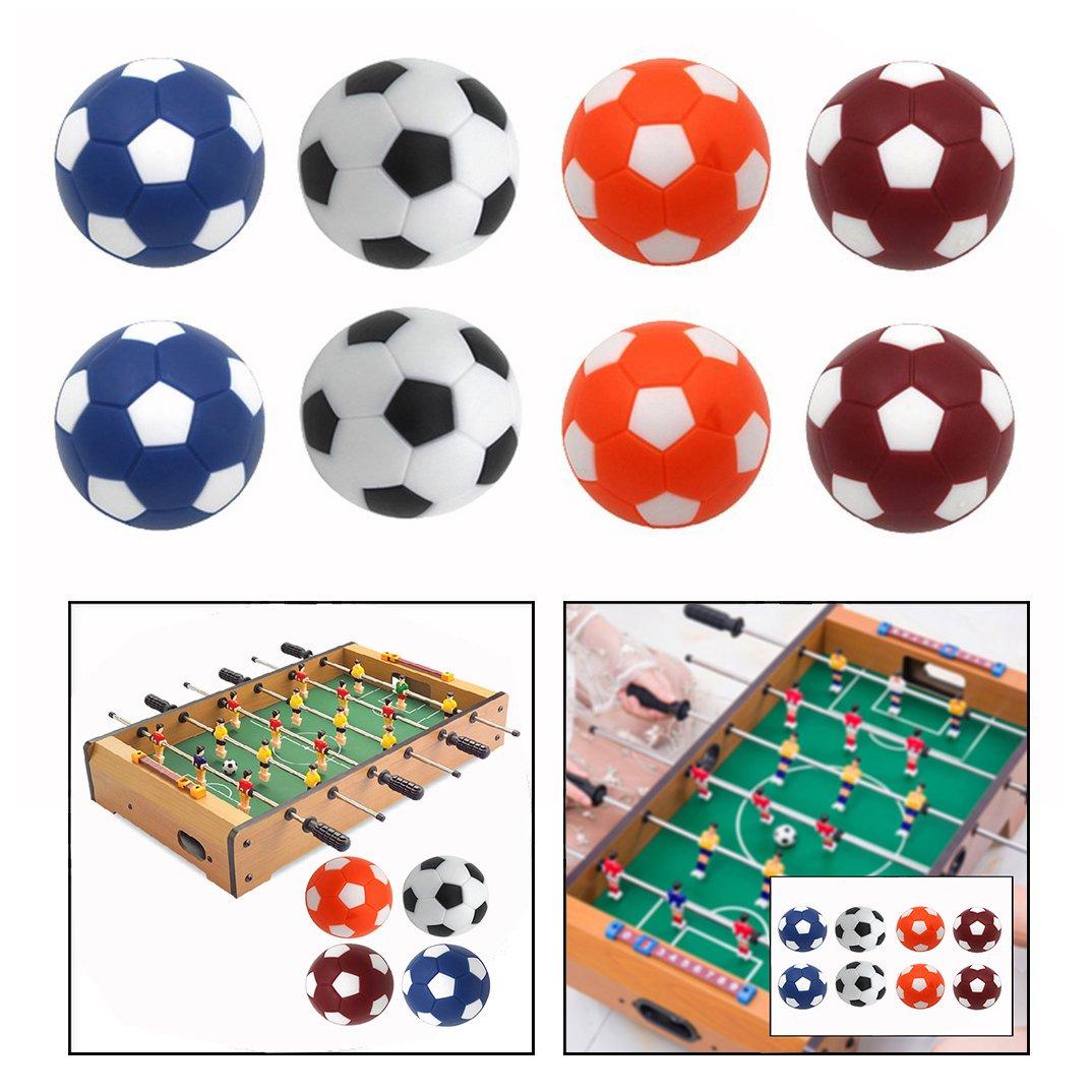 OFKPO Lot de 8 Ballons de Football, Contient 4 Couleurs Bien Choisies et Chaque Couleur a 2 Balles