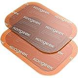 Koogeek Gel Patche Abs Fit Super Adhésif et Absorption de sueur pour Smart Fitness Gear 6 Pièces Transparent