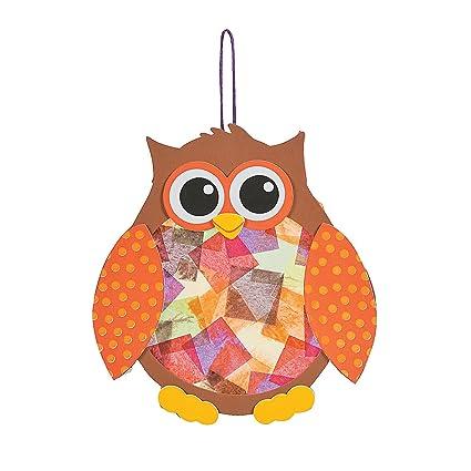 Amazon Com Fun Express Tissue Acetate Owl Ck 12 For Fall