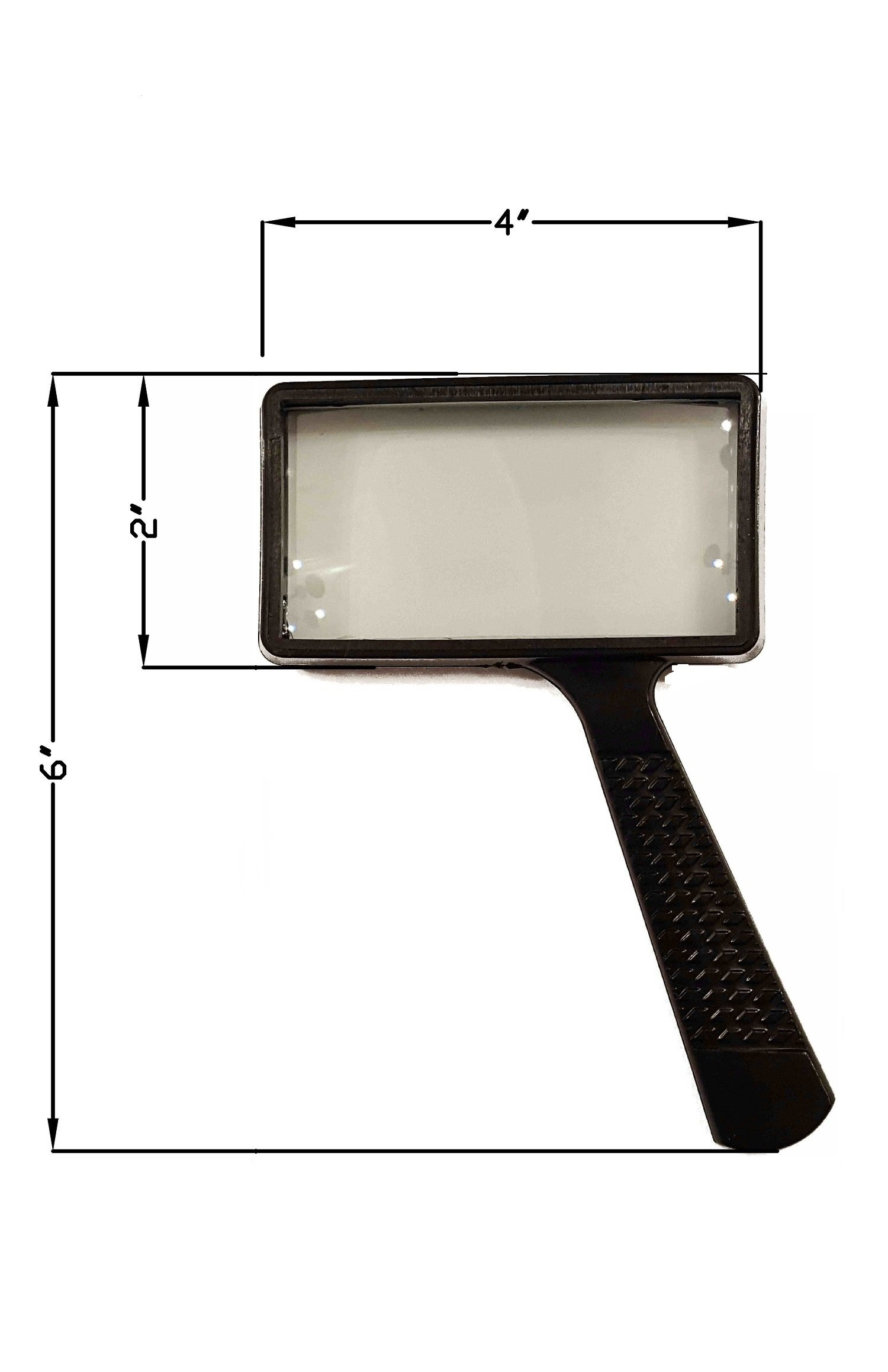 Magnifying Glass for Reading 4X, Real Glass, Large Rectangle Viewing Pane