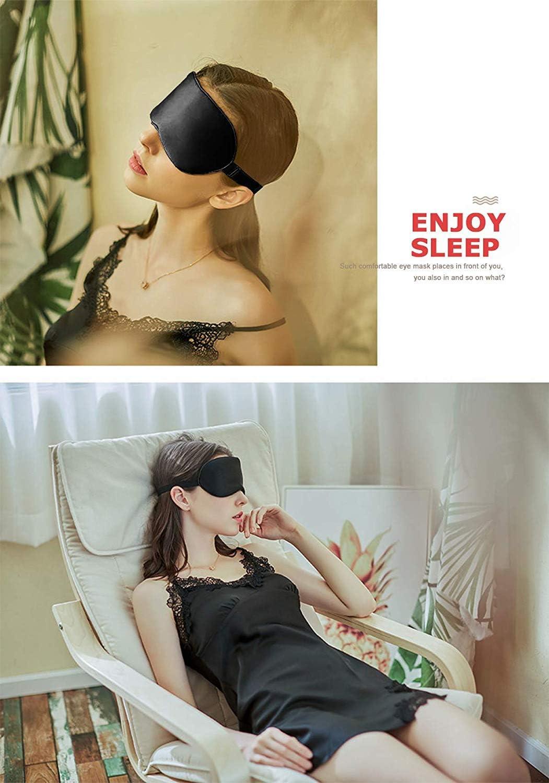 Masque pour les yeux sans pression ultra doux et l/éger Cache-yeux Masque de sommeil en soie respirant pour homme Masque de sommeil en forme de dinosaure femme et enfant