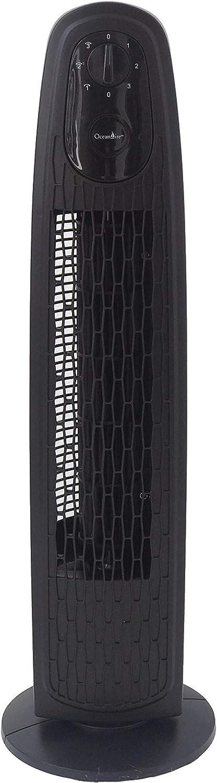 "OceanAire Oscillation Tower Fan, 29"", Black"