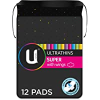 U by Kotex Ultrathin Pads Super with Wings 12 Pack