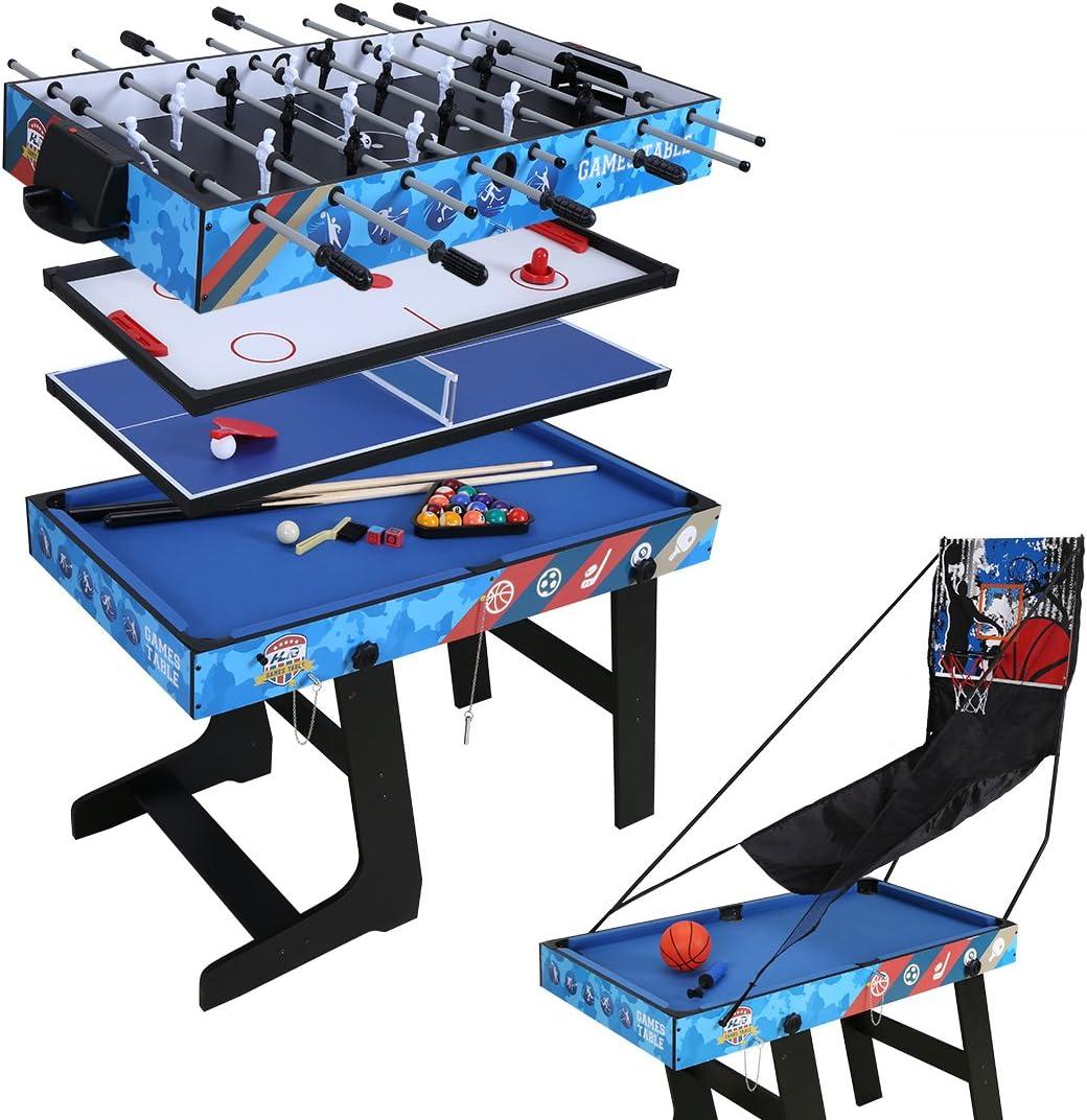 homelikesport Mesa de Juego 5 en 1 para Fútbol Honkey Ping Pong Billar Baloncesto: Amazon.es: Juguetes y juegos