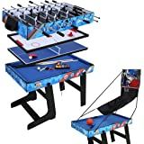 HLC 5 In 1 Multi Game Table,Football,Hockey,Table Tennis,