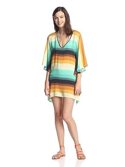 72c620f6a2e16 Amazon.com  Vix Swimwear Women s Delta Tunic Swim Cover Up Delta S ...