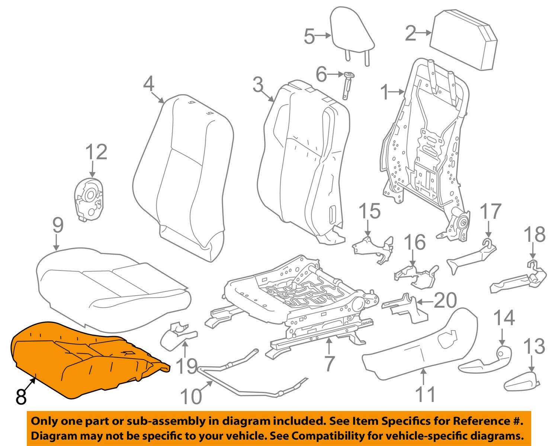 TOYOTA Genuine 71512-0R070 Seat Cushion Pad