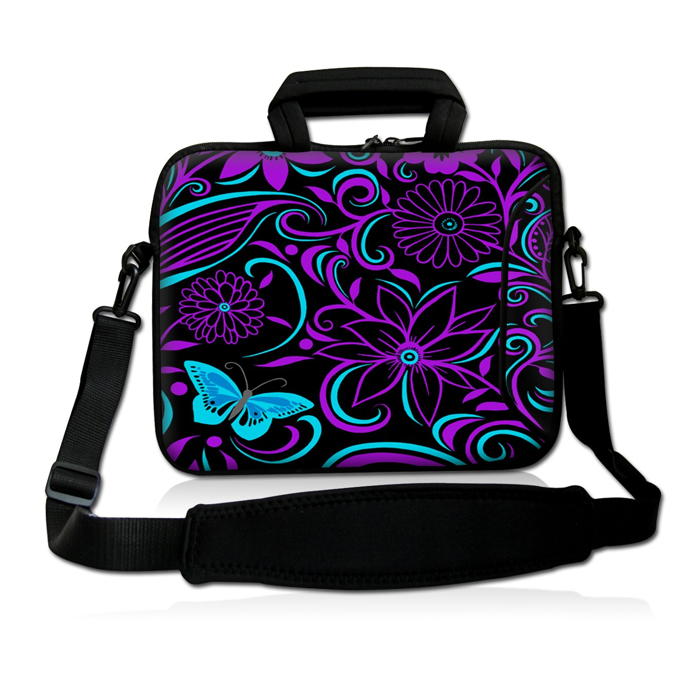 Purple-black design 9.7'' 10'' 10.2'' inch Laptop Netbook Tablet Shoulder Case Carrying Sleeve bag For Apple iPad/Asus EeePC/Acer Aspire one/Dell inspiron mini/Samsung N145/Lenovo S205 S10/HP Touchpad Mini 210