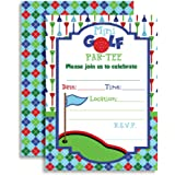 Amazon golf party invitations 10 invitations 10 envelopes mini golf putt putt birthday party fill in style invitations for boys set of filmwisefo Choice Image