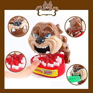 Cuidado con el Juego de Mesa de Perro Juego de Mesa de Sonido de Perro eléctrico Perro Novedad Broma Bones Tarjeta de Juguete Juego de Mesa para niños: Amazon.es: Juguetes y juegos