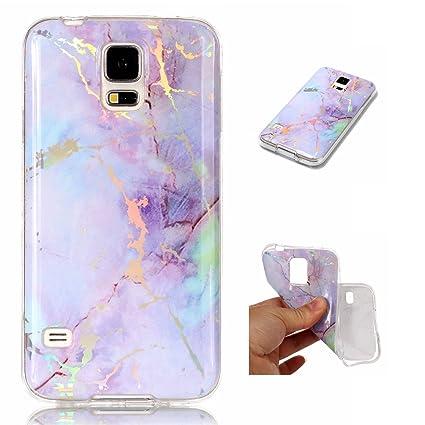Amazon.com: nexcurio Samsung Galaxy S5 funda mármol silicona ...