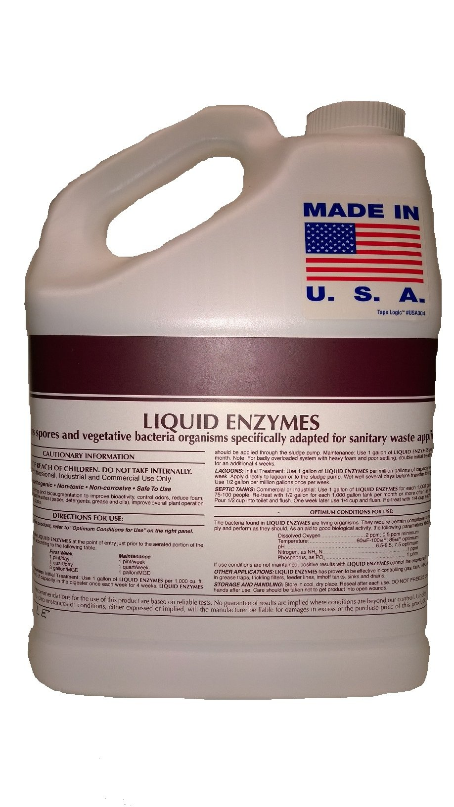 Patriot Chemical Sales Four 1 Gallon Natural Drain Opener Liquid Enzymes Industrial Strength