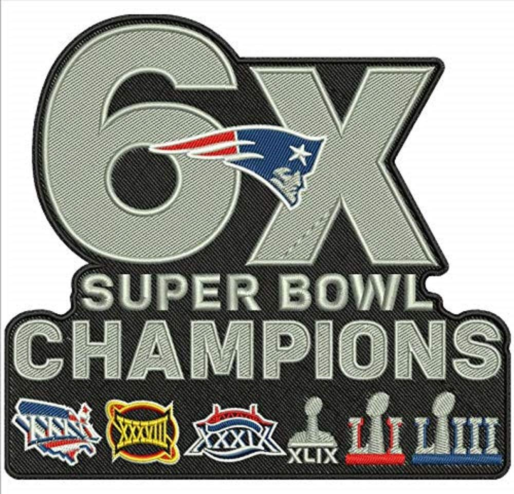 Super Bowl 53 LIII Patch Patriots 6X Champions Superbowl Jacket Style NFL Champ by Lotus energy