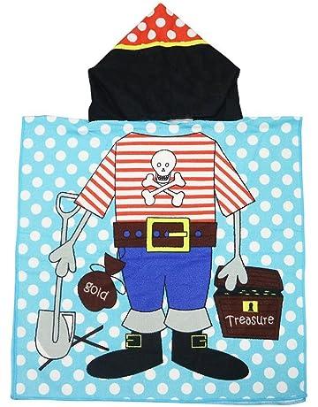 SINBLUE Poncho con capucha para niños de algodón para baño o playa, 61 x 122