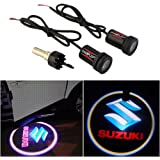 CHAMPLED For SUZUKI Car Auto Laser Projector Logo Illuminated Emblem Under Door Step courtesy Light Lighting symbol sign badge LED Glow Performance