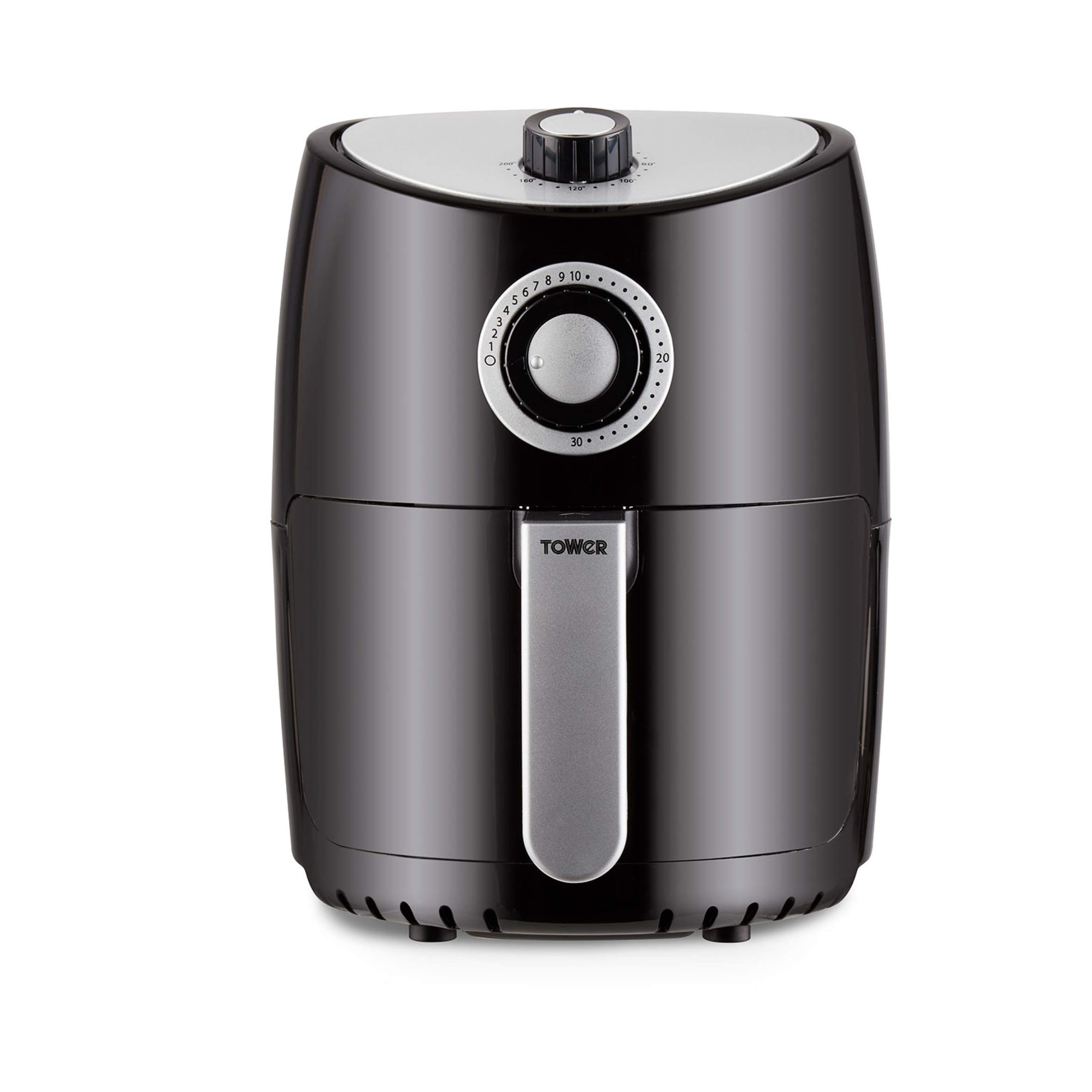 Tower T17023 Air Fryer Oven with Rapid Air Circulation and 30 Min Timer, 2.2 Litre, Black