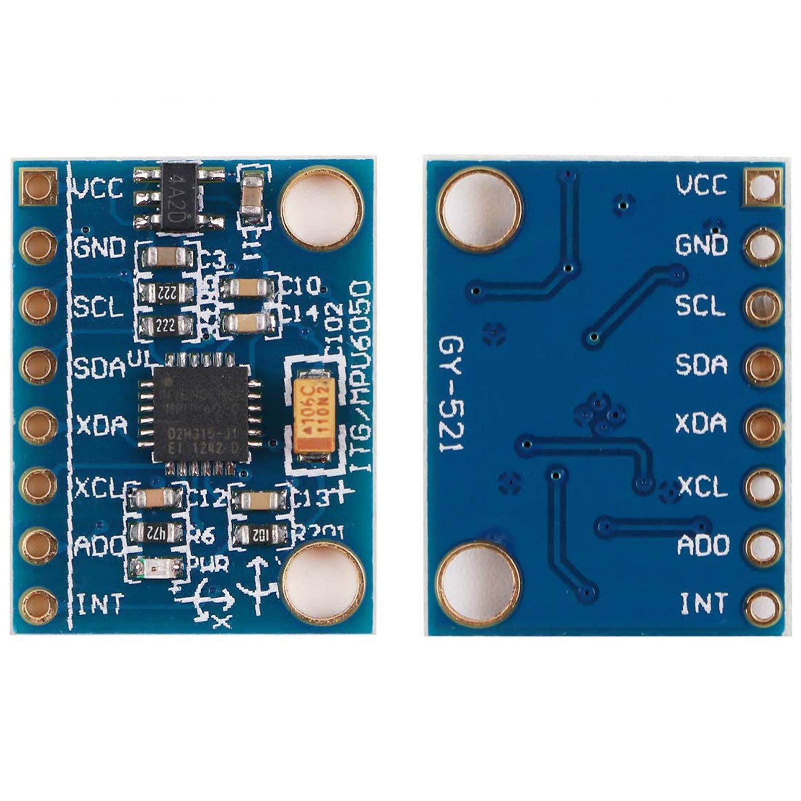 Gy-521 MPU-6050 MPU6050 Module 3 Axis Analog Gyro Sensors+ 3 Axis Accelerometer Module by Generic (Image #8)