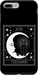 iPhone 7 Plus/8 Plus Tarot Card Crescent Moon and Black Cat Cosmic Graphic Case