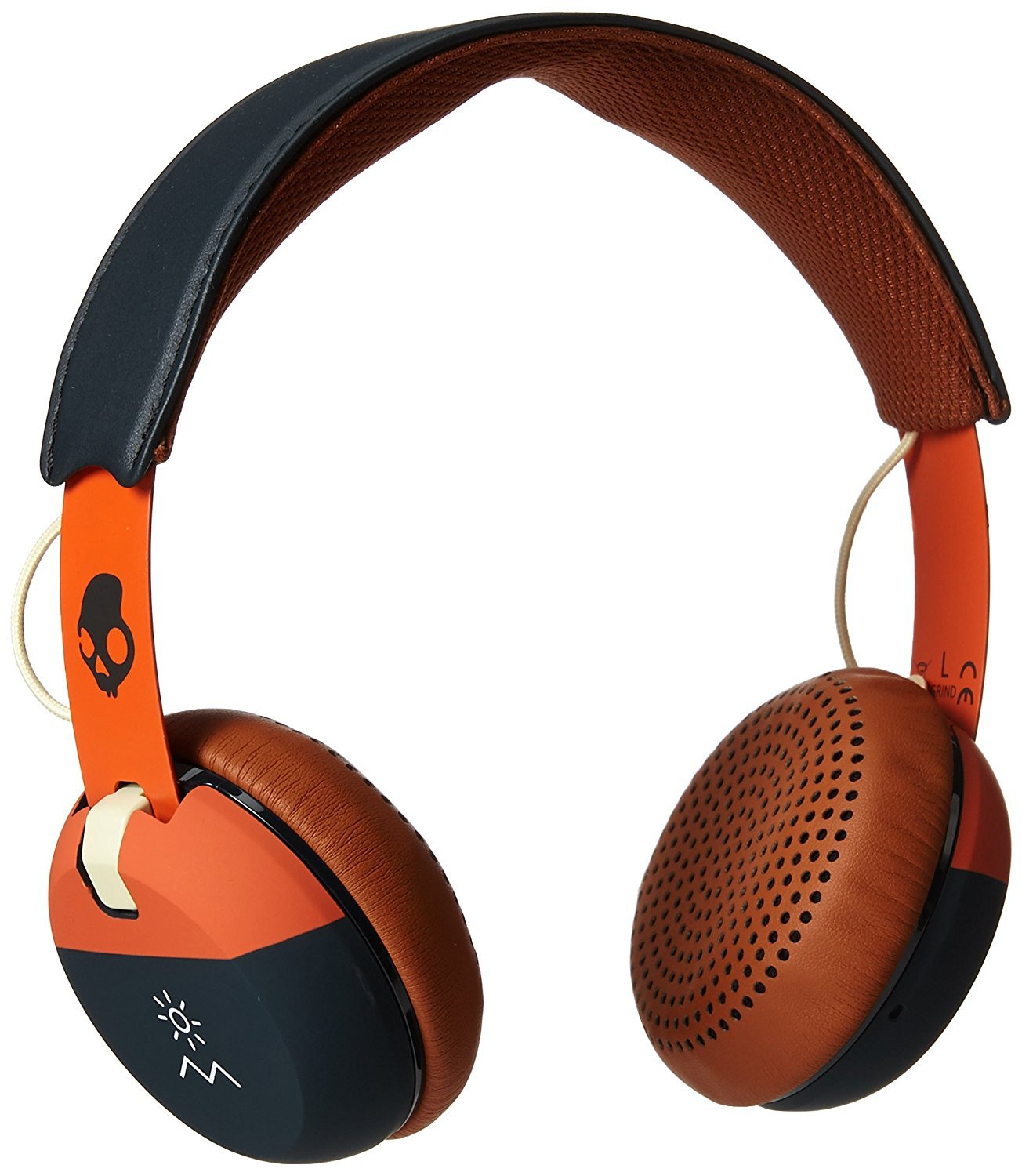 Skullcandy Grind On-Ear Headphones with Built-In Microphone, Supreme Sound with Powerful Bass, Low Profile Design, Plush On-Ear Cushions and Durable Metal Headband