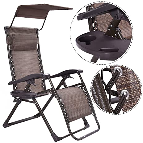 amazon com foldable zero gravity chair lounge patio outdoor yard