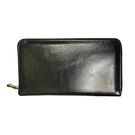 Image Unavailable. Image not available for. Color  BELLO TUTTI Zipper Women  Clutch PU Leather Long Wallet Card Holder Purse Handbag Bag Black 4985733a0903