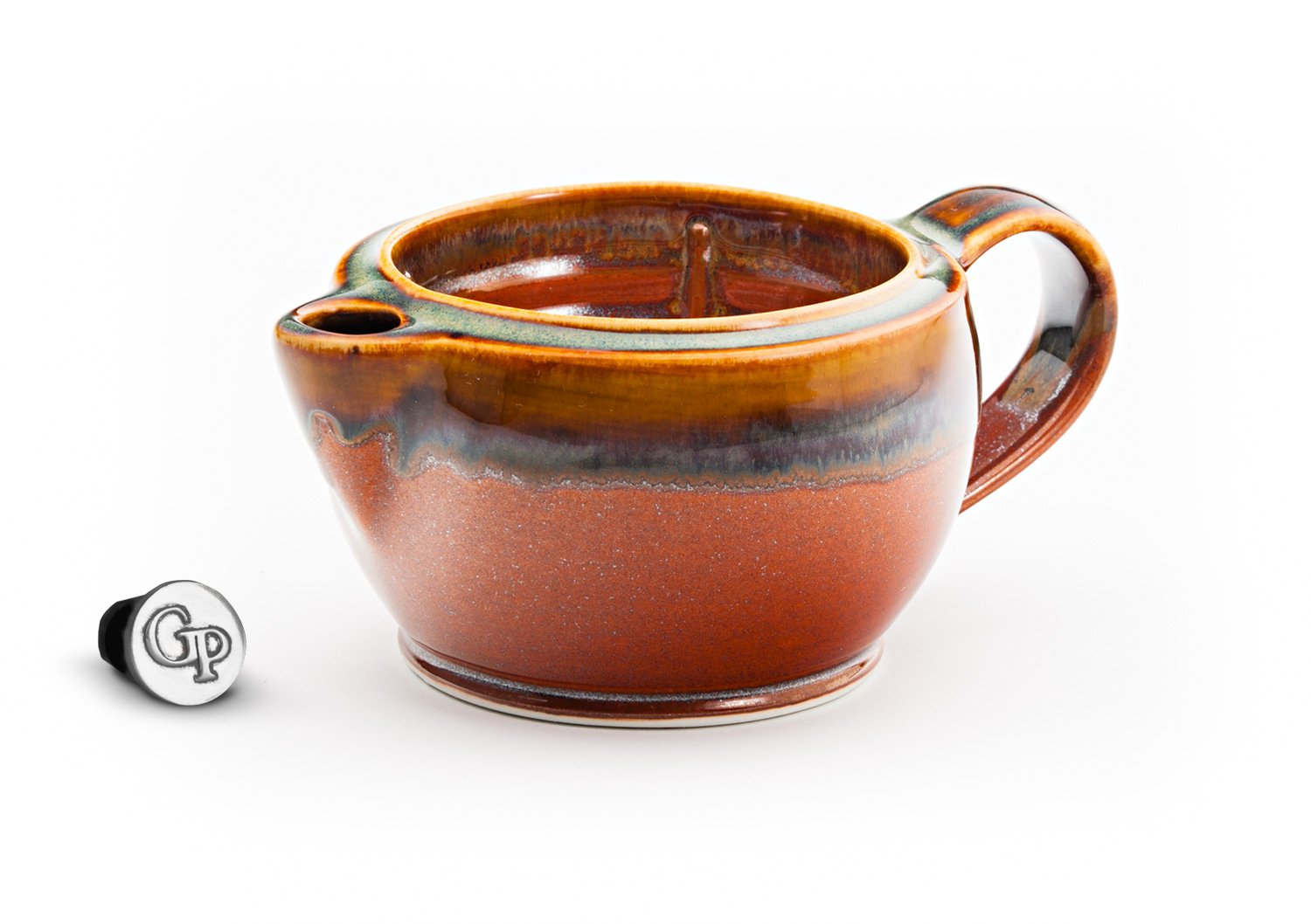 Georgetown Pottery G12 Shaving Scuttle Mug - Hamada & Persimmon