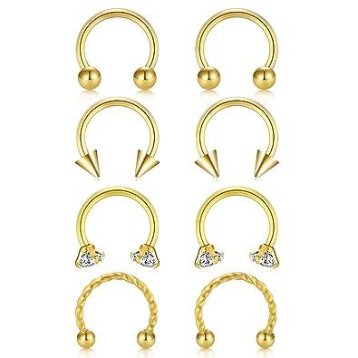 Amazon.com: JFORYOU - Piercing para nariz o septo, diseño de ...