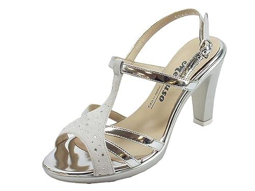 tr1123e scarpe estive nabuk larghezza e per donna melluso