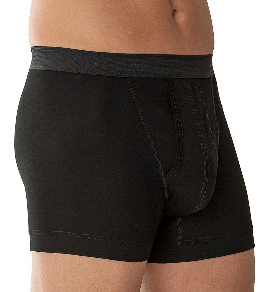 Zimmerli Business Class Open Fly Boxer Brief (220-547) XL/Black