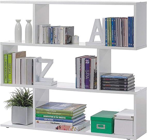Habitdesign 301010BO - Estantería Salon Comedor Athena, libreria ...