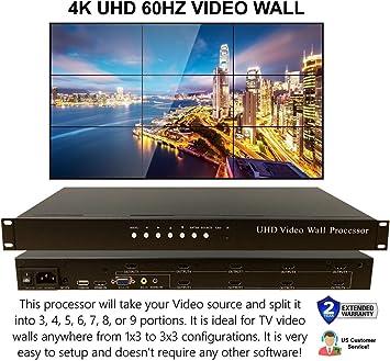 2 x 2 HDMI Video Wall Processor HD TV 1080P Matrix Controller ...