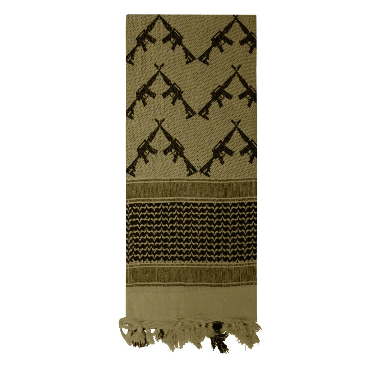 Rothco Crossed Rifles Shemagh Tactical Scarf, Olive Drab