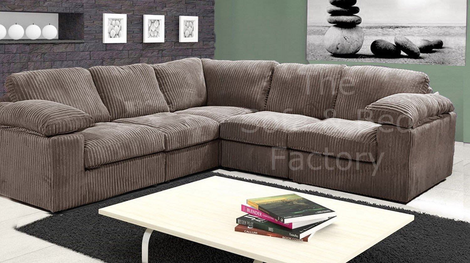 Details about New Ruxley Large Fabric 5 Seater Corner Sofa - 2 Corner 2 -  Beige / Coffee Cheap
