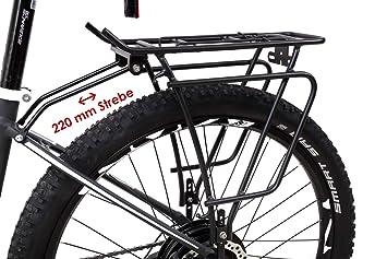 Gepäckträger 24-29 Zoll Fahrrad M-Wave Traveller Basic universal schwarz